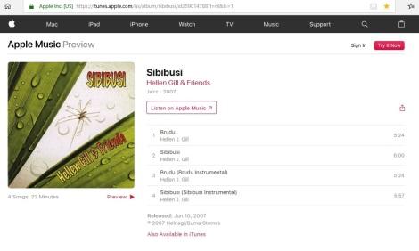 Sibibusi Hellen Gill and Friends2007 I-Tunes2